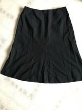 Talbots Sz 6 Black A-Line Lined Back Zip Skirt No Slit Wool Blend Italian Fabric - $14.89