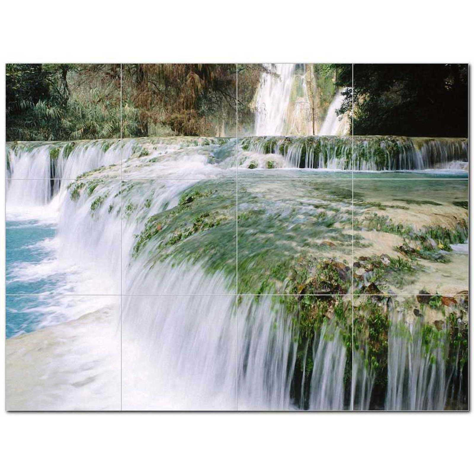 Primary image for Waterfalls Photo Ceramic Tile Mural Kitchen Backsplash Bathroom Shower BAZ406222