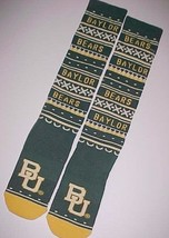 Baylor Bears Football NCAA Big 12 adidas Green Yellow Tube Socks One Siz... - $34.64