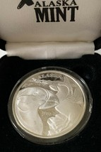 Alaska Official State 1995 Rare Vintage Medallion Silver  Proof 1Oz Boxe... - $118.79