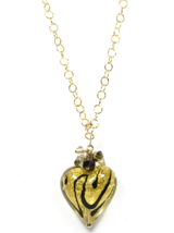 Genuine GINEVA Murano Glass Swirl Swarovski Heart Necklace - €157,57 EUR+
