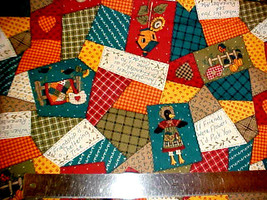 Harvest Sunflower FABRIC Traditions Crow Autumn Patchwork Cheater quilt ... - $15.64