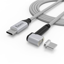 Magnetic USB C Cable for Macbook Pro Basevs 4.3A 87W MagSafe Type C to T... - ₹2,044.56 INR