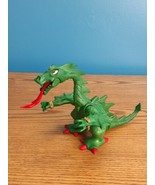 Playmobil 1995 Geobra Fire Breathing Dragon Green Posable Excellent Cond... - $10.88
