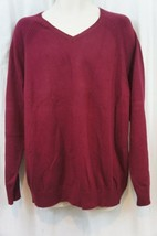 INC International Concepts Mens Sweater Sz XL Maroon Red V Neck Casual S... - $25.26