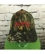 Ams Mens Sz L-XL Hat Forest Green Camouflage Flexfit Fitted Baseball Cap... - $14.84