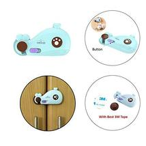 Safe-O-Kid- Pack of 2 Whale Shaped Baby Safety Lock, Multi-Purpose, Dual Color C - $22.54