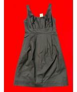 Jcrew Navy Blue Stretch Cotton Tank Dress With Pockets Size 4 - $31.09