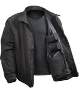 Black Concealed Carry Padded Military Jacket - $79.99+