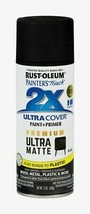 Rust-Oleum Painter's Touch 2X ULTRA MATTE BLACK 12 oz. Spray Double Cove... - $14.99