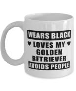 Golden Retriever Funny Mug - Wears Black Loves My Dog Avoids People - 11... - $14.95