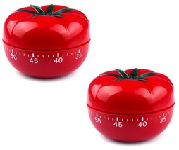 2x TOMATO Mechanical Kitchen Timer Game Count Down Counter Alarm Cooking... - $8.99