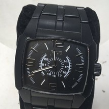 Vintage Folio by Fossil Men's Analog Wrist Watch Black on Black FMDMSG037 IF 184 - $19.00