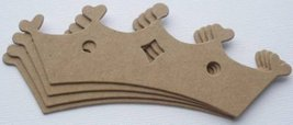 5 PRiNCESS TiARA CROWNS Raw Chipboard Die Cuts - $7.82