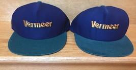 VERMEER Lot Of 2 farming equipment  trucker hat cap snapback Made in USA - $17.45