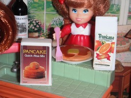 Barbie Tropicana OJ Pankcake Mix Lot fits Fisher Price Loving Family Dollhouse - $14.99