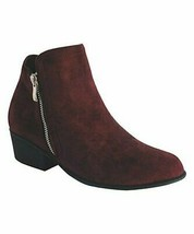 TOP MODA, Wine Zip Gary Ankle Boot, Sz 5.5 - $11.88