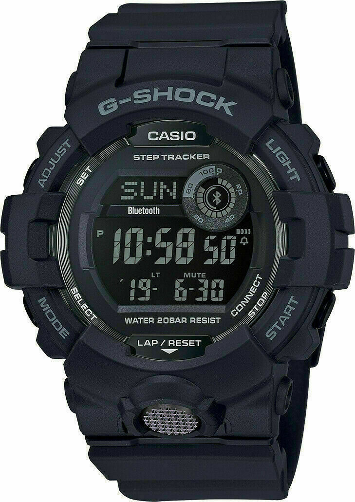 NEW Casio G-shock GBD800-1B Super Illuminator Digital Black Watch