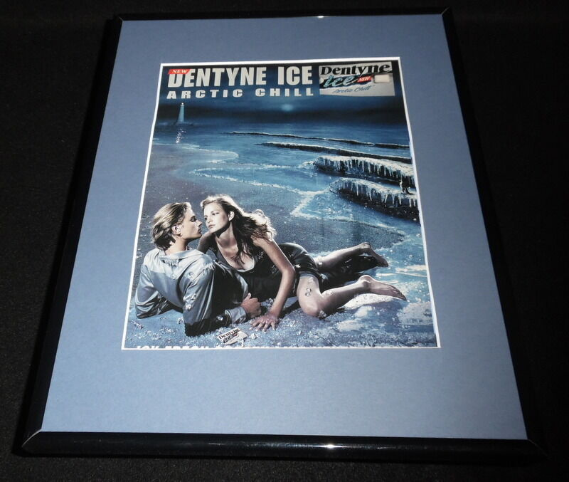Primary image for 2000 Dentyne Ice Arctic Chill Gum Framed 11x14 ORIGINAL Vintage Advertisement B