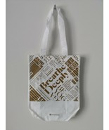 New LULULEMON 20 Year Manifesto White Gold Reusable Shopping Gym Lunch Bag Small - $4.84