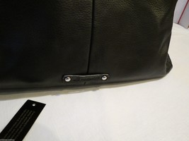 B. Makowsky black soft leather purse tote hand bag organizer computer laptop image 2