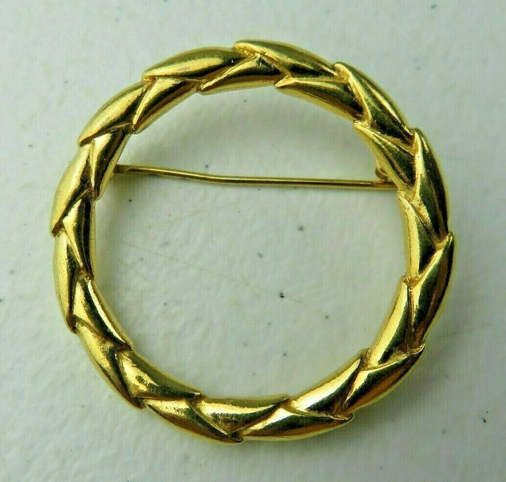 Primary image for Vintage Trifari Gold metal Art Deco BROOCH Pin