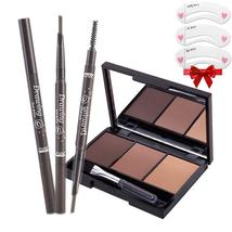 Portable eyebrow enhancer set [eyebrow powder Palette+waterproof eyebrow... - $5.98