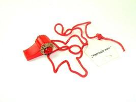 90s plastic Whistle Necklace Retro Mod NOS New Attittude Vintage streetwear - $9.89