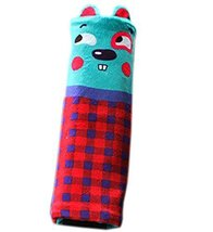 Safe Car Soft Seat Belt Strap Cover, Lovely Catoon Cat, Blue