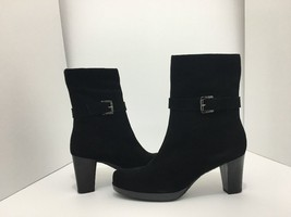 La Canadienne Kian Black Suede Women's Short Boots High Heel Size 9.5 M - $106.21