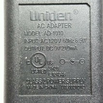 Uniden AD-1010 AC Adapter Power Cord Charger 9VDC 210mA - $7.67