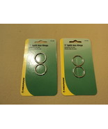 Hillman 1-Inch Split Key Rings 2 Pack Silver Lot of 2 701286 Metal - $7.07