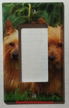 Australia Terrier Dog Light Switch Power Duplex Outlet Cover Plate Home decor image 2