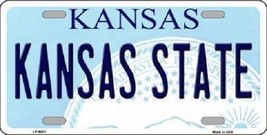 NCAA Kansas State Wildcats License Plate Team State Background Metal Tag U.S.A - $9.85
