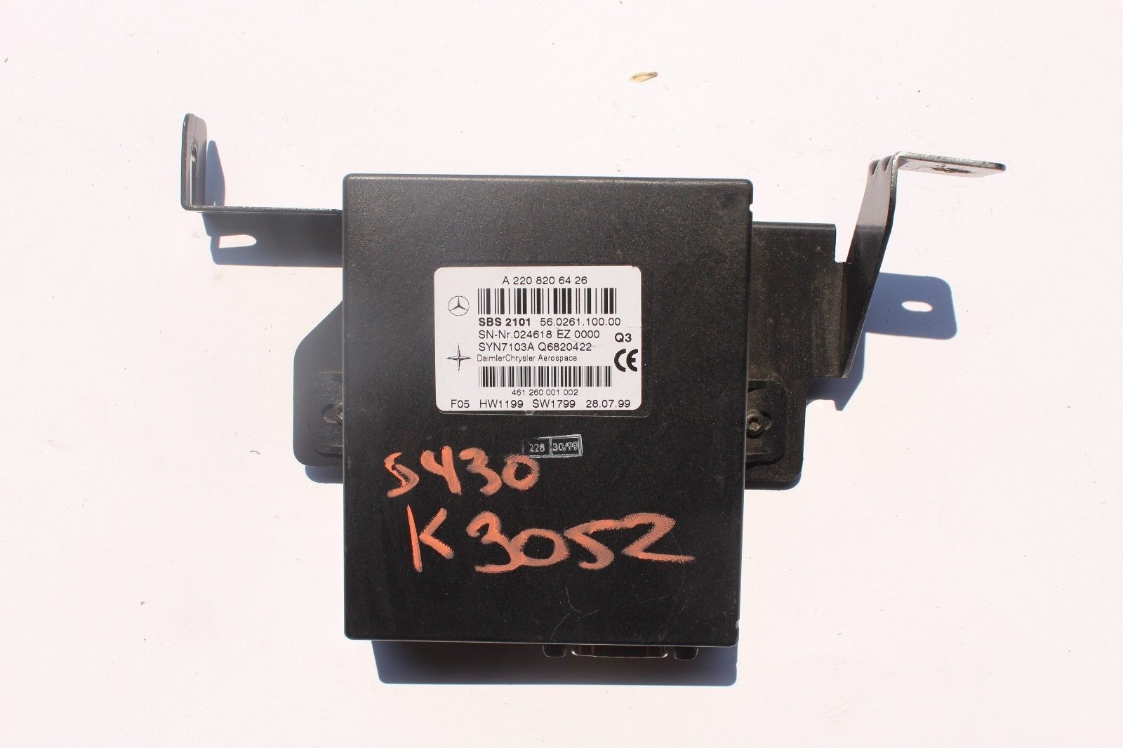 Primary image for 2000-2006 MERCEDES BENZ W220 S430 S500 VOICE COMMUNICATION CONTROL MODULE K3052