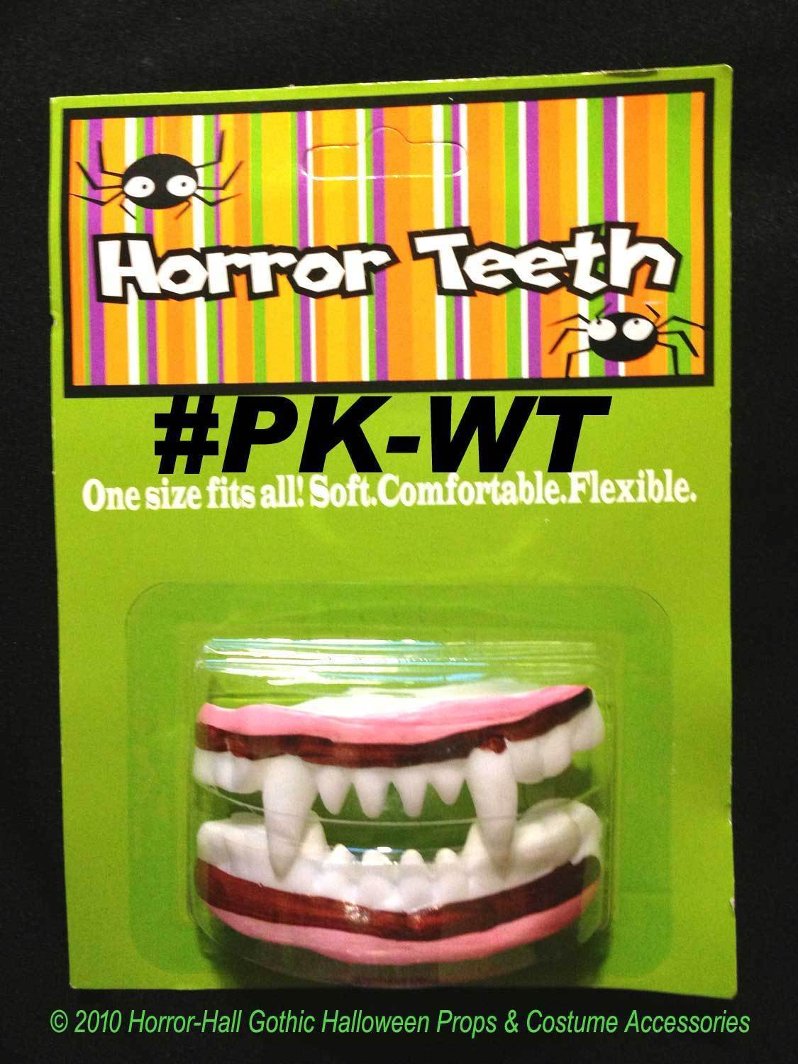 Creepy HORROR TEETH FANGS DENTURES Zombie Monster Pirate Costume Accessory-LARP