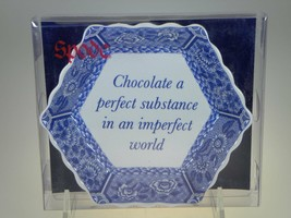Spode Blue Room Hex Fluted Tray(Chocolate a Perfect Substance) NEW IN BOX - $8.38