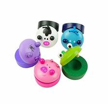 4Pcs Educational Toys Wooden Finger Castanet,Random Stlye
