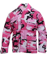 Mens Pink Camouflage Military BDU Shirt Tactical Uniform Army Coat Fatigues - $27.99+