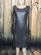 Max Mara Small Shimmer Formal T-Shirt Dress - $57.00