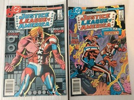 Justice League Of America 244 & 245  DC Book Lot Of 2 1985 CRISIS CROSSOVER - $6.36