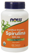 Spirulina 500mg Now Foods 200 Tabs - $17.50