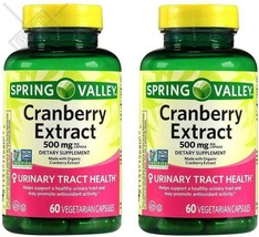 Spring Valley Cranberry Extract, 60 count, 500 mg per Capsule (Pack of 2) - $36.94