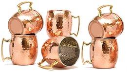 Rastogi Handicrafts Barrel Hammered Copper Moscow Mule Mug, 18 Oz - Hand... - $84.15