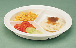 """North Coast Medical GripWare Partitioned Scoop Dish 8-3/4"""" - NC35699 - Each - $10.05"""