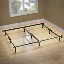 9 LEG QUEEN FRAME BED COMPACT BOX SPRING STEEL ... - $80.33