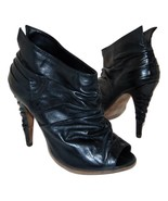 Sexy ALLSAINTS SPITALFIELDS Pleated Glove Leather Booties sz 37 6.5 - 7 - $62.67