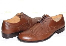 STEVE MADDEN Virtue Wingtip Brown Genuine Leather Oxfords 8.5 M NEW! L@@... - $46.54