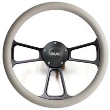 1974-1994  GMC C-Series Pick-Up Truck - Black Billet & Grey Steering Wheel - $129.99
