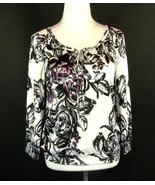 NWT WHITE HOUSE BLACK MARKET Sixe S  New Silky Pleated Blouson Tunic Blouse - $29.99